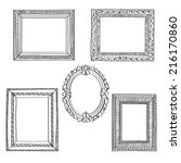 elegant ornate frames | Shutterstock .eps vector #216170860
