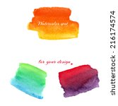 watercolor spots for design