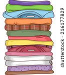 illustration featuring a pile... | Shutterstock .eps vector #216177829