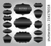 vintage labels design. retro... | Shutterstock .eps vector #216178318