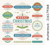 christmas decoration vector... | Shutterstock .eps vector #216179368