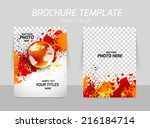 flyer template back and front... | Shutterstock .eps vector #216184714