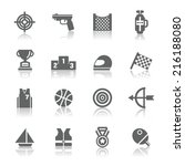 sport competition icons | Shutterstock .eps vector #216188080