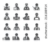 occupation icons | Shutterstock .eps vector #216188914