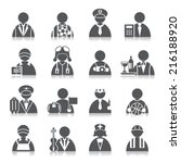 occupation icons | Shutterstock .eps vector #216188920