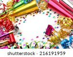 new year's party decoration on... | Shutterstock . vector #216191959