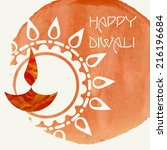 Happy Diwali Festival. Vector illustration. Eps 10. - stock vector