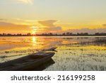 Colorful Sunset On Small Lagoo...