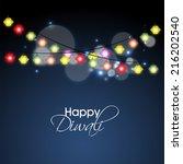 vector background for diwali...   Shutterstock .eps vector #216202540
