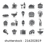 food and drinks icons   Shutterstock .eps vector #216202819