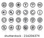 control panel icons | Shutterstock .eps vector #216206374