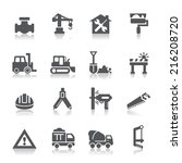construction icons | Shutterstock .eps vector #216208720