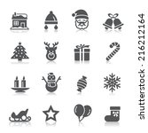 christmas element icons | Shutterstock .eps vector #216212164
