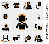 Calling Vector Icons Set On...