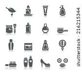 beauty and cosmetic icons | Shutterstock .eps vector #216215344