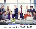 group of diverse business... | Shutterstock . vector #216219658