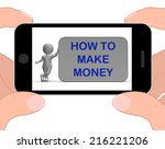 how to make money phone meaning ... | Shutterstock . vector #216221206