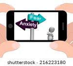 fear anxiety signpost... | Shutterstock . vector #216223180