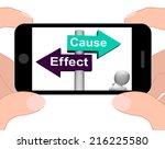 cause effect signpost... | Shutterstock . vector #216225580