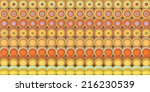 3d abstract tiled mosaic...   Shutterstock . vector #216230539
