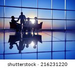 group of business people... | Shutterstock . vector #216231220