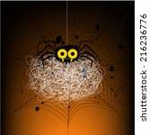 background with spiders. | Shutterstock .eps vector #216236776