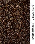 coffee seeds background | Shutterstock . vector #216237679
