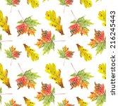 watercolor leafs pattern | Shutterstock . vector #216245443