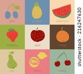illustration of doodle fruit... | Shutterstock .eps vector #216247630
