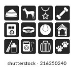 silhouette dog accessory and... | Shutterstock .eps vector #216250240