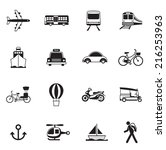 b w icons set   transportation  ... | Shutterstock .eps vector #216253963