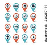 Map Markers Icons Set  ...
