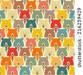 bears seamless cartoon pattern   Shutterstock .eps vector #216259429
