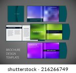 vector brochure design | Shutterstock .eps vector #216266749