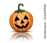 jack o'lantern illustration... | Shutterstock .eps vector #216269560