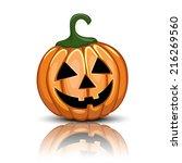 jack o'lantern illustration... | Shutterstock .eps vector #216269560