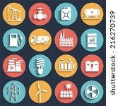 energy  electricity  power ... | Shutterstock . vector #216270739