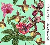 beautiful seamless floral... | Shutterstock .eps vector #216271138