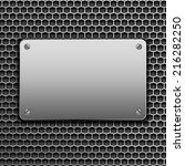 metallic plaque for signage | Shutterstock .eps vector #216282250