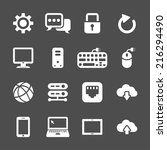 network and computer icon set ... | Shutterstock .eps vector #216294490