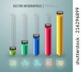 vector abstract infographic... | Shutterstock .eps vector #216296899