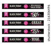black friday sale web banners    Shutterstock .eps vector #216306496