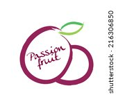 passion fruit  | Shutterstock .eps vector #216306850