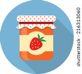 vector jam jar icon | Shutterstock .eps vector #216313060