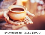 pottery craft ceramic clay in... | Shutterstock . vector #216315970