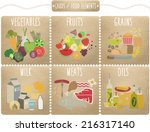 set of flat food and drink... | Shutterstock .eps vector #216317140