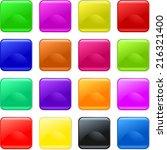 a set of sixteen blank gel... | Shutterstock . vector #216321400