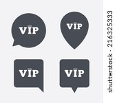 vip sign icon. membership... | Shutterstock .eps vector #216325333