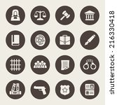 law icon set | Shutterstock .eps vector #216330418