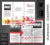 white vector brochure template... | Shutterstock .eps vector #216334954